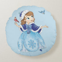Sofia the First | Sofia The First With Friends Round Pillow