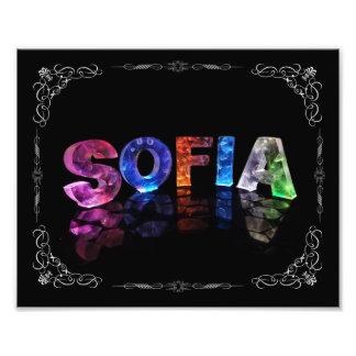 Sofia  - The Name Sofia in 3D Lights (Photograph) Photo Print