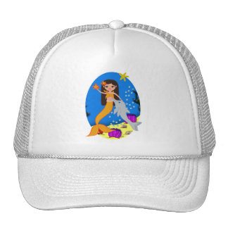 Sofia the Orange Mermaid and Dolphin Hat