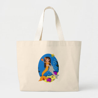 Sofia the Orange Mermaid and Dolphin Tote Bag