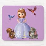 Sofía y sus amigos animales alfombrillas de ratón