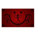 sofisticaciones del escorpión plantillas de tarjetas de visita