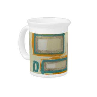 Soft And Bold Rothko Inspired Abstract Beverage Pitchers