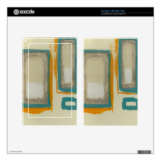 Soft And Bold Rothko Inspired Abstract Decal For Kindle Fire