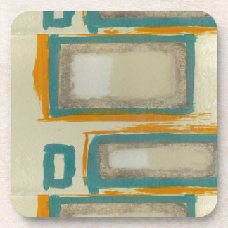 Soft And Bold Rothko Inspired Abstract Drink Coaster