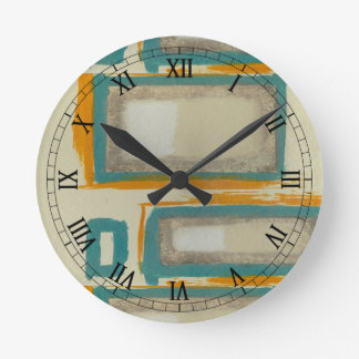 Soft And Bold Rothko Inspired Abstract Round Clock