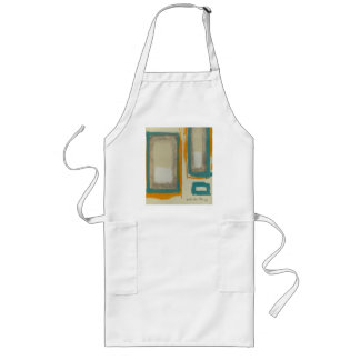 Soft And Bold Rothko Inspired Abstract Signed Long Apron
