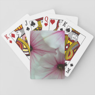 Soft and delicate Pink Petunias Playing Cards
