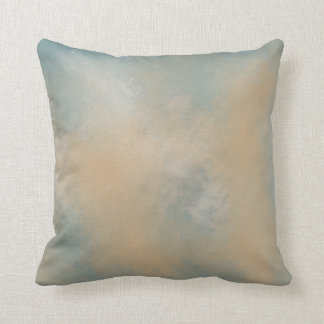 Soft and Dreamy Blue and Gold   Throw Pillow