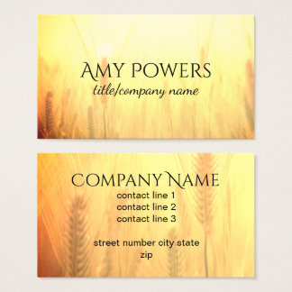 soft and dreamy nature  business card double sided