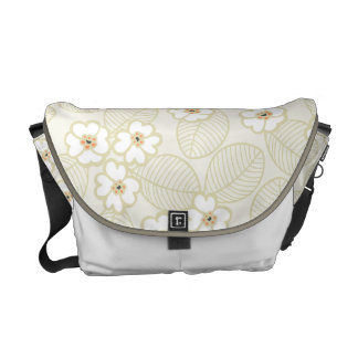 Soft and Neutral Floral Messenger Bag