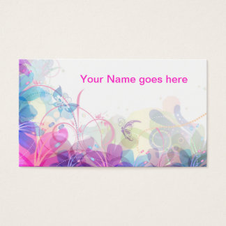 Soft and Pretty Floral design Business Card