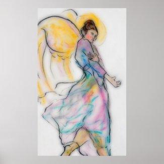 Soft Angel print