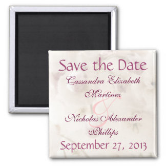 Soft Apple Blossom Save the Date Wedding Magnet