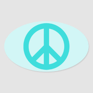 Soft Aqua Peace Symbol Sticker