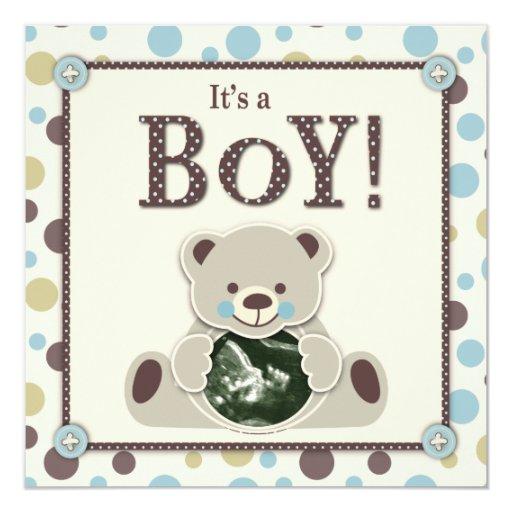 Soft as a Teddy Bear Invitation Square