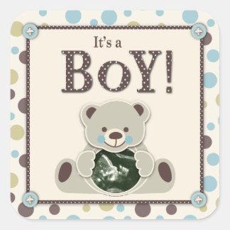 Soft as a Teddy Bear Square Sticker