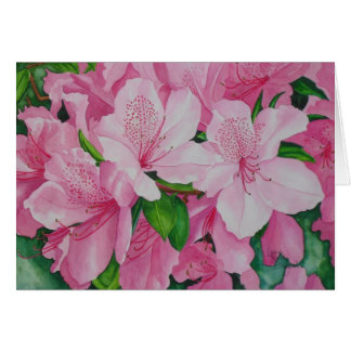 Soft Azaleas Card