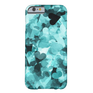 Soft Baby Blue Kawaii Hearts Background Barely There iPhone 6 Case