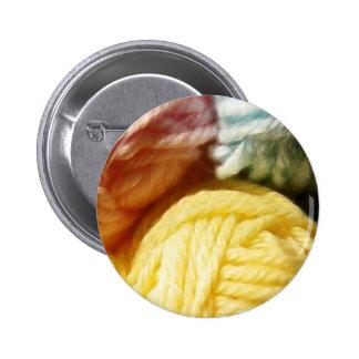 Soft Balls Of Yarn 2 Inch Round Button
