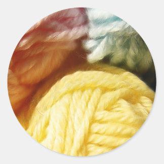 Soft Balls Of Yarn Classic Round Sticker