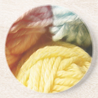 Soft Balls Of Yarn Drink Coaster