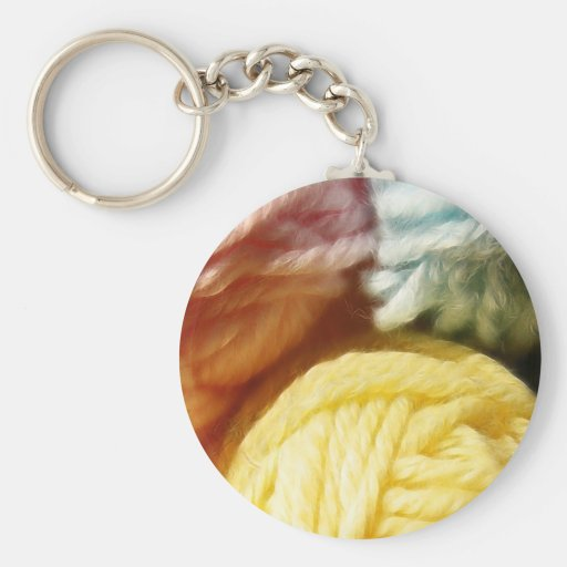 Soft Balls Of Yarn Key Chain