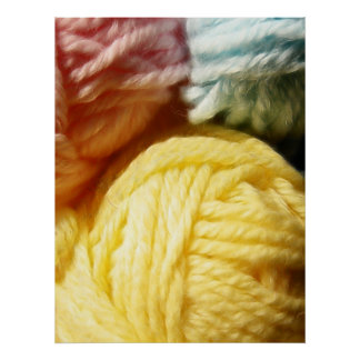 Soft Balls Of Yarn Poster