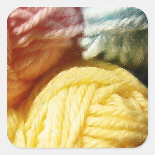 Soft Balls Of Yarn Square Sticker