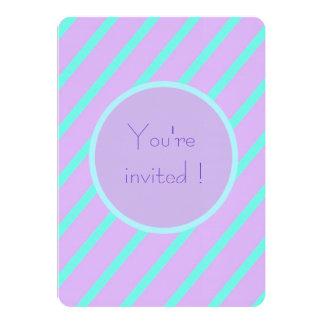 Soft basic Stripe 'You're Invited invitation cards