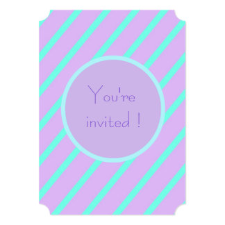 Soft basic Stripe 'You're Invited Tickets Card