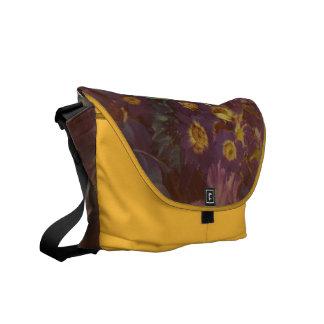 Soft Beautiful Purpleand Saffron Flowers Commuter Bag
