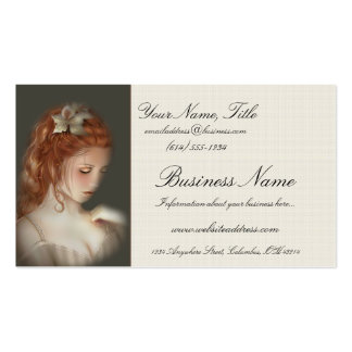 Soft Beautiful Redheaded Woman Business Cards