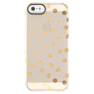 Soft Beige Gold Glitter Dots Clear Phone Case