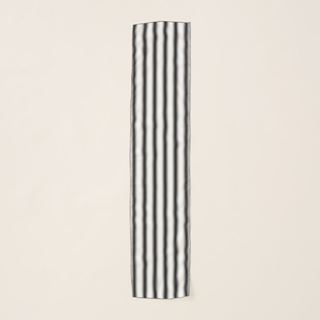 Soft Black and White Stripes Pattern Chiffon Scarf