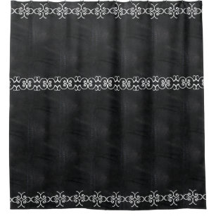 Soft Black Faux Suede Leather Shower Curtain