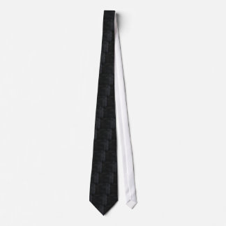 Soft Black Faux Suede Leather Tie