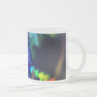 Soft Blend Color Swirl Frosted Glass Coffee Mug