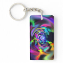Soft Blend Color Swirl Keychain