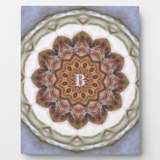 Soft Blended Earth Tone Medallion Pattern Design Plaque