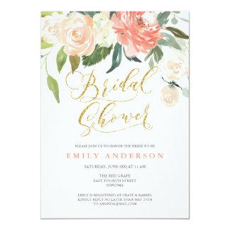 soft_bloom_peach_floral_bridal_shower_invitation r81a862e37e5c48df99cd78c5b7ea8f56_zknff_324?rlvnet=1 peach bridal shower invitations & announcements zazzle,Peach Bridal Shower Invitations
