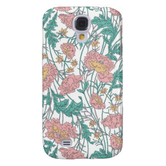 Soft blue and pink elegant floral pattern. galaxy s4 cases