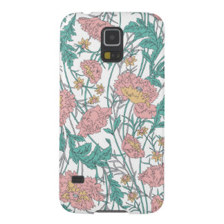 Soft blue and pink elegant floral pattern. galaxy s5 cases