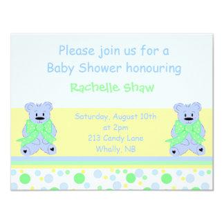 Soft Blue Baby Shower Invitation