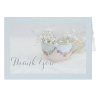 Soft Blue Bridal Tea Thank You Cards
