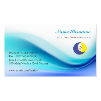 soft blue business card
