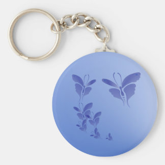 Soft Blue Butterfly  Keychain