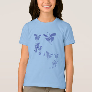 Soft Blue Butterfly  T-Shirt