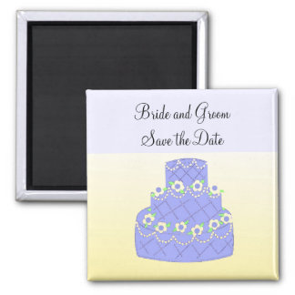 Soft Blue Cake Save the Date Magnet