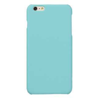 Soft Blue Color Matte iPhone 6 Plus Case